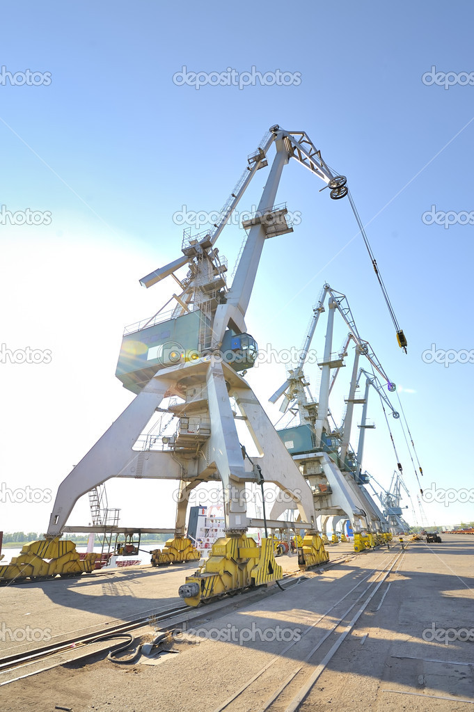 Port cranes  — Stock Photo #6857412