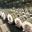 Packed rolls of steel sheet — Stock Photo #6994540