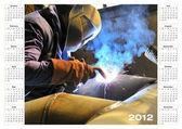 Calendario 2012 industriale — Foto Stock