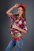 Young beauty woman worker portrait — Stock Photo