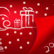 Abstract vector red backround new year — Stockvectorbeeld
