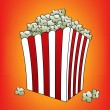 Pop corn orange vector illustration — Stock Vector #7752806