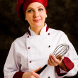 Chef with whip — Foto Stock