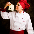 Chef is controlling cheese quality — Stock Photo #7263186