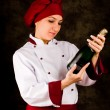 chef-kok somelier - christmas — Stockfoto #7263656