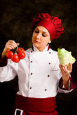 Chef is controlling tomato quality — Stock Photo