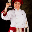 Chef is toasting to the health — Stock Photo
