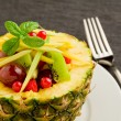 Pineapple stuffed with fruits — Stock Photo #7309350