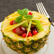 Pineapple stuffed with fruits — Stock Photo #7309375