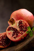 Pomegranate in poor art style — Stock Photo