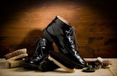 Shoe polishing tools — Stockfoto