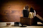 Shoe polishing tools — Stock Photo