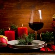 Decorated Christmas Table — Stock Photo #7790941