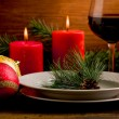 Stock Photo: Decorated Christmas Table