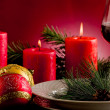 Decorated Christmas Table — Lizenzfreies Foto