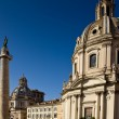 Church in the traiano forum Rome - Stockfoto