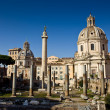 Church in the traiano forum Rome — Stock Photo