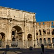 Colosseum and Constantines Arch — Stock Photo #7815564