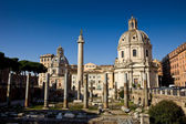 Church in the traiano forum Rome — Stockfoto