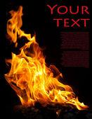 Fire on black — Stock Photo