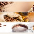 Stock Photo: Coffee horizontal banners