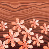 粉彩花卉木背景上 — 图库矢量图片