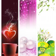 Holidays vertical banners — Foto Stock