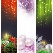 Set Christmas banners web - 图库照片