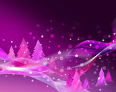 Abstract pink Christmas card — Stock Photo