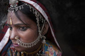Portrait of a India Rajasthani woman — Foto de Stock