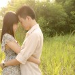 Stock Photo: Romantic asian couple
