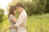 Romantic asian couple — Stock Photo