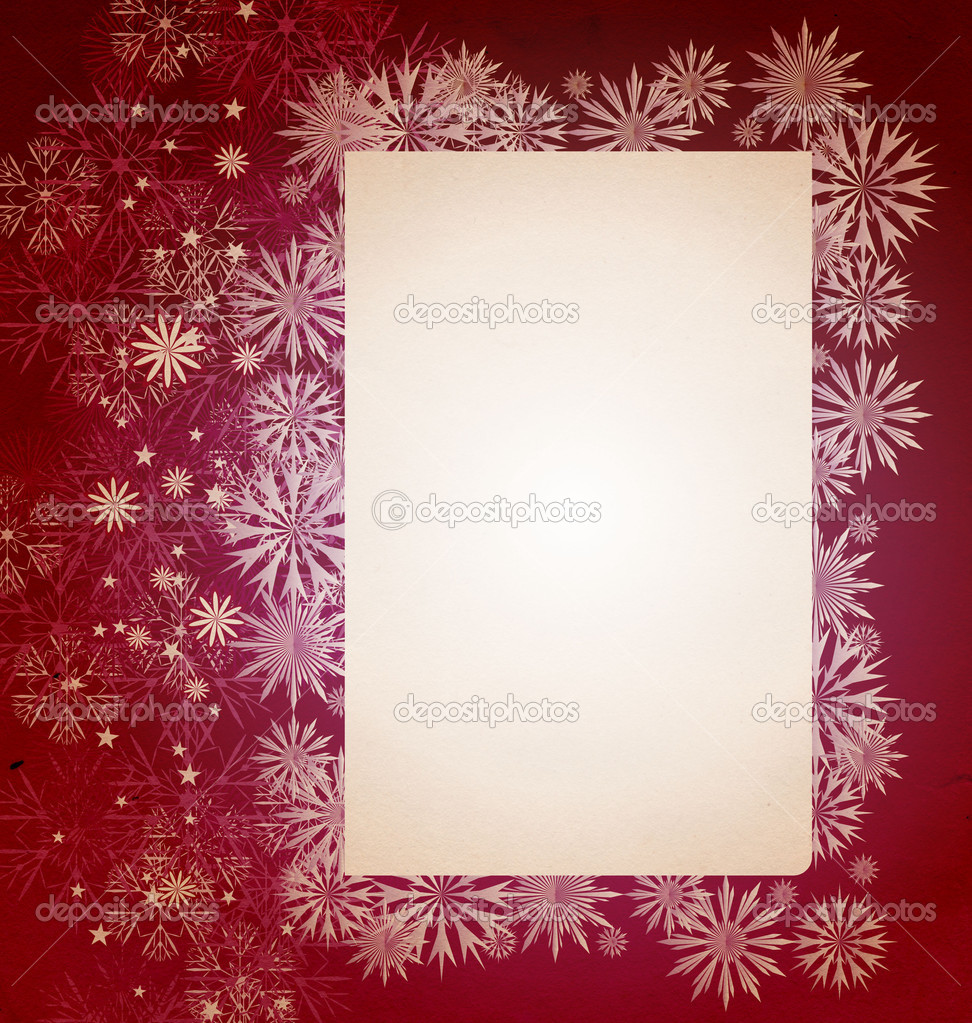 Christmas vintage snowflake card illustration — Stock Photo #6825984