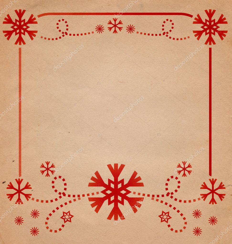 Christmas vintage snowflake card illustration — Stock Photo #6826000