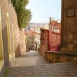 Stairs street in Prague — Stock Photo