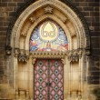 Old church door in Vishegrad, Prague - Stock Photo
