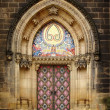 Stock Photo: Old church door in Vishegrad, Prague