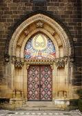 在维舍格勒,布拉格的老教堂门口 — 图库照片