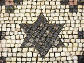 Brick road with David's star — Stock Photo