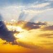 Dramatic sky photo with the sun — Stock Photo #7618872