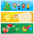 Vector banners christmas set — Stock Vector
