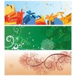 Christmas banner vintage illustration — Stock Vector #7763161