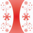 Stock Vector: Christmas vintage snowflake card