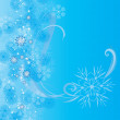 Christmas vector snowflake card — Stock Vector #7763317