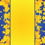 Vector christmas background with golden stars cartoon — Stock Vector