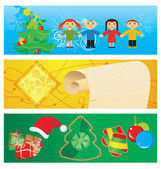 Vector banners christmas set — Vector de stock