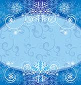 Christmas vintage snowflake card — Stock Vector