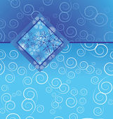 Cartolina d'epoca fiocco di neve di natale — Vettoriale Stock