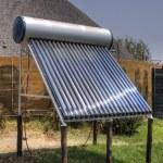 Solar thermal installation — Stock Photo