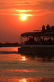 Sunset River Cruise — Stock Photo